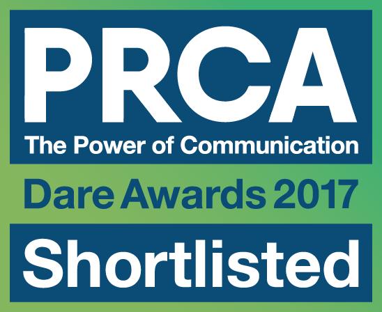PRCA Dare Awards Shortlist Badge